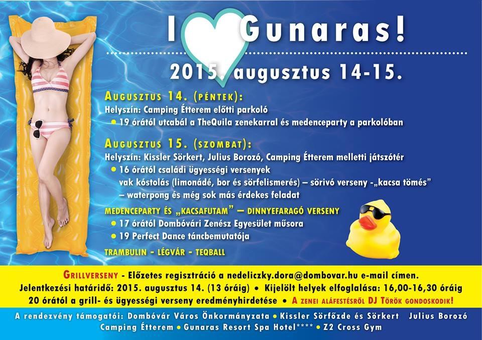 I love Gunaras - hétvégi programok