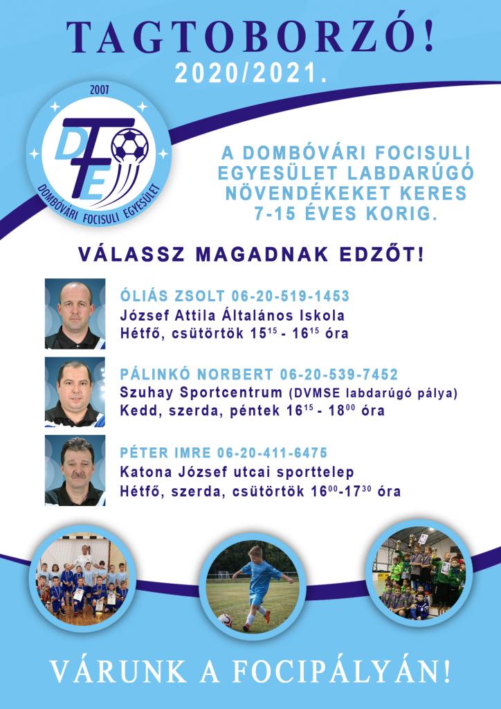 Növendékeket toboroz a Dombóvári Focisuli Egyesület